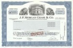 JP Morgan Stock Certificate
