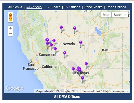 Nevada DMV offices