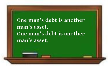 One mans debt