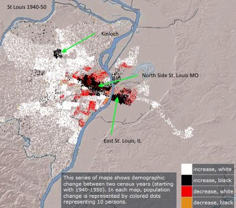 Map St Louis 1950