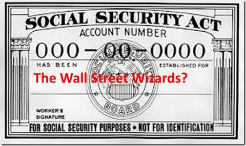 Social Security Wall St card