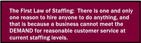 First Law of Staffing