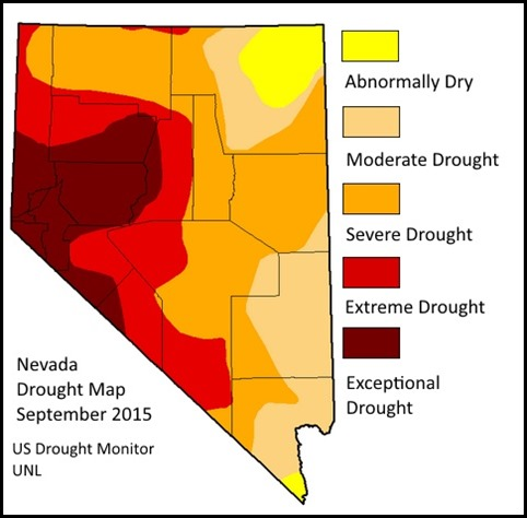 NV Drought Map Sept 2015