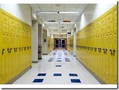 School Corridor Lockers
