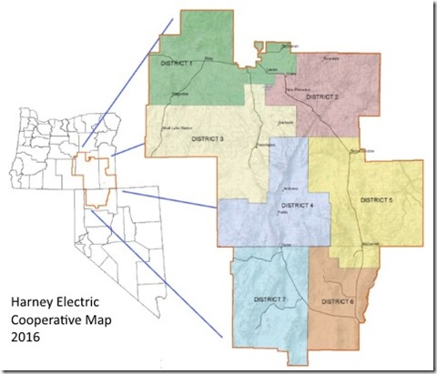 Harney Electric Map