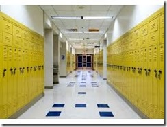 School Corridor Lockers