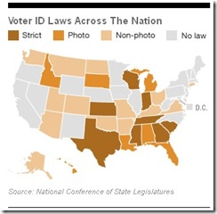 Vote suppression map