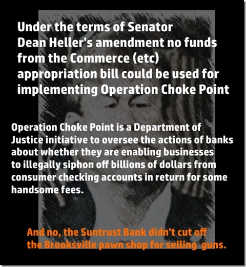 Heller Amendment Operation Choke Point