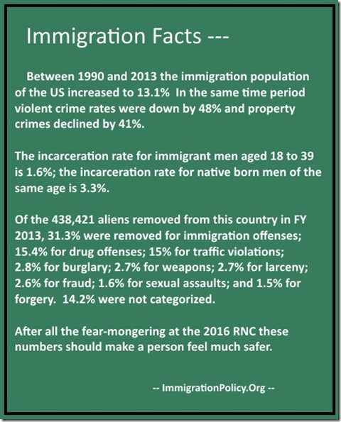 Immigration Facts poster