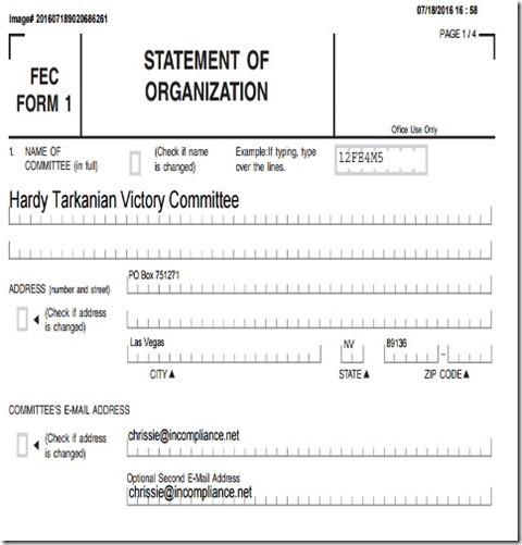 Tarkanian Hardy Victory Committee