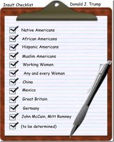 Trump Checklist