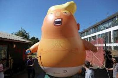 trump baby blimp