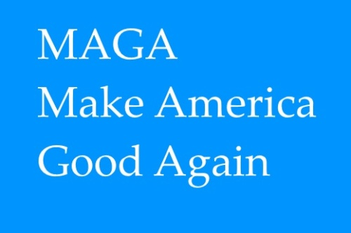 MAGA blue good again